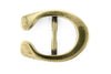 Aged gold horseshoe stud buckle 25mm