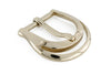 Scooped edge pale gold prong buckle 25mm