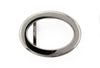 Shiny silver hollow oval buckle 25mm