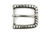 Silver snakeskin effect rounded prong buckle 25mm