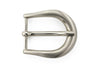 Satin silver elliptical prong buckle 25mm