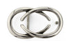 Silver interlocking C buckle 30mm
