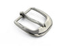 Shiny silver sloped edge buckle 30mm