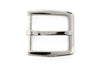 Shiny silver hexagonal rectangle buckle 30mm