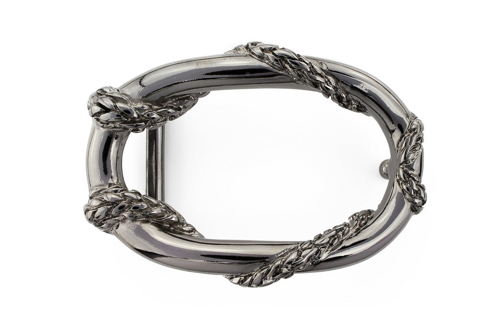 Gunmetal rope oval buckle 30mm