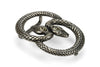 Aged Silver Interlocking Double Snake Buckle 30mm