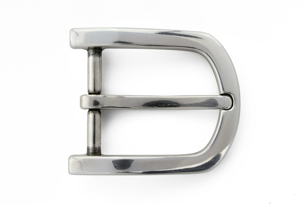Silver offset prong buckle 30mm