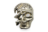 Bleached Gold Mini Crystal Encrusted Skull Buckle 30mm