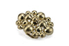 Satin Gold Molten Bubble Buckle 30mm