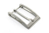 Satin silver sliced edge buckle 30mm