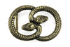 Aged Gold Interlocking Snake Buckle 30mm