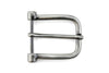 Satin Gunmetal Hinge Style Prong Buckle 30mm