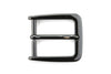 Gunmetal Flattened Rectangular Prong Buckle 30mm