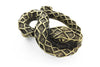 Aged gold snake buckle 30mm