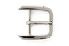 Silver off centre prong buckle 30mm
