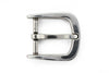Silver rounded rectangle prong buckle 30mm