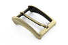 Aged gold sloped edge prong buckle 30mm
