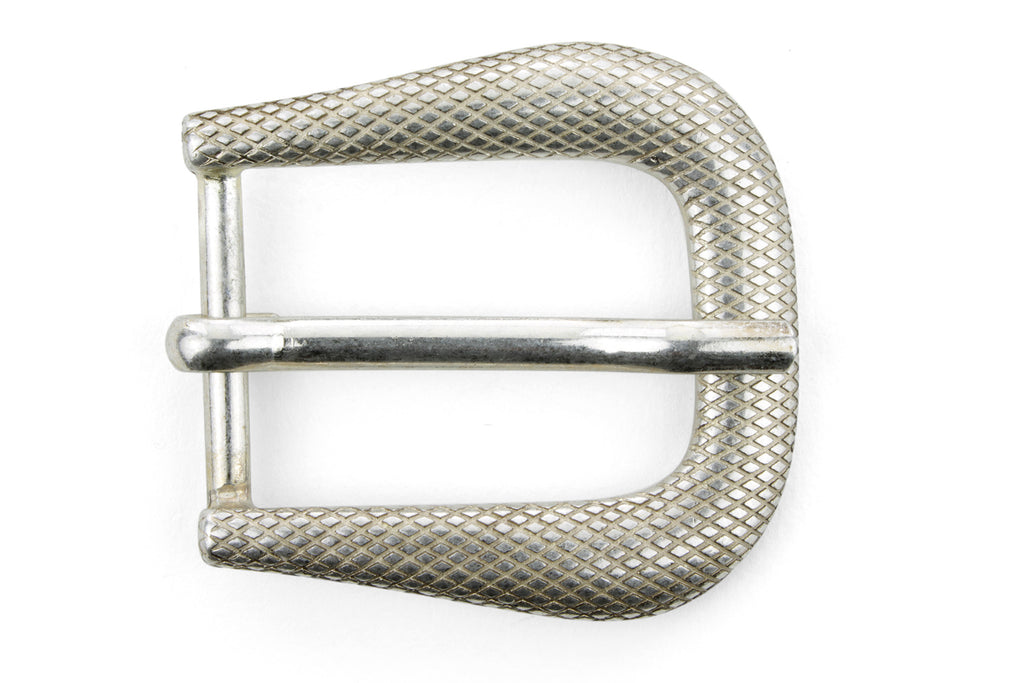 Bleached Gold Lizard Texture Prong Buckle 30mm