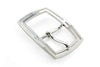 Satin Silver Dual Edged Centre Prong Buckle 30mm