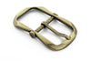 Satin gold flattened octagon buckle 30mm