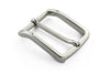 Shiny silver classic prong buckle 30mm