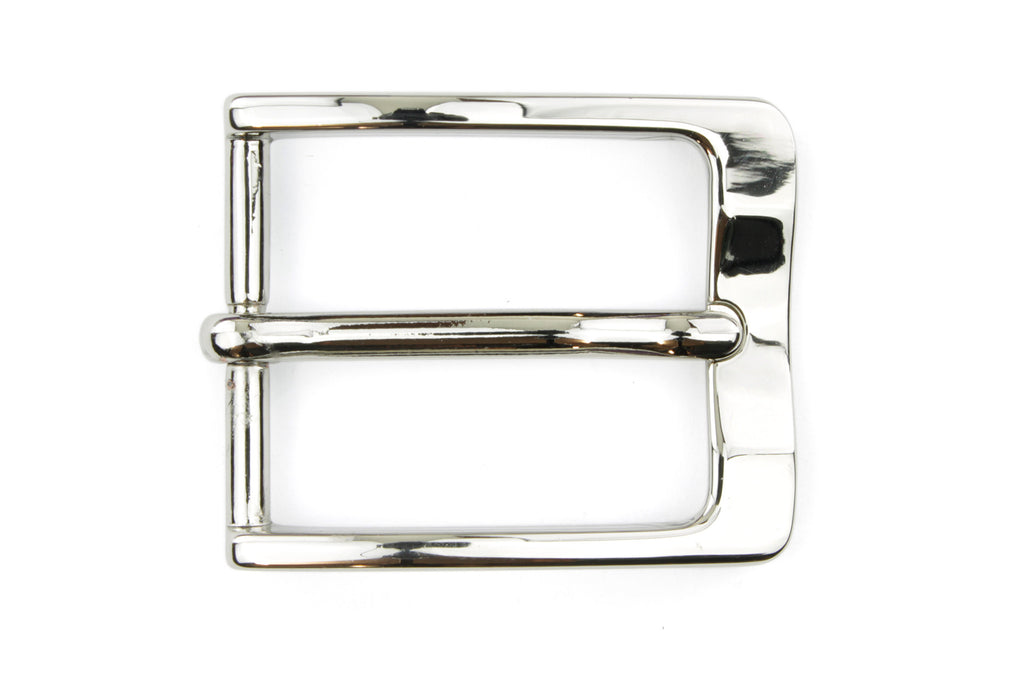 Shiny Silver Curved Front Classic Buckle 30mm