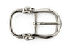 Shiny silver bridle inspired buckle 30mm