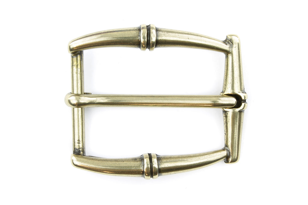 Aged Gold Rectangular Bamboo Buckle 30mm