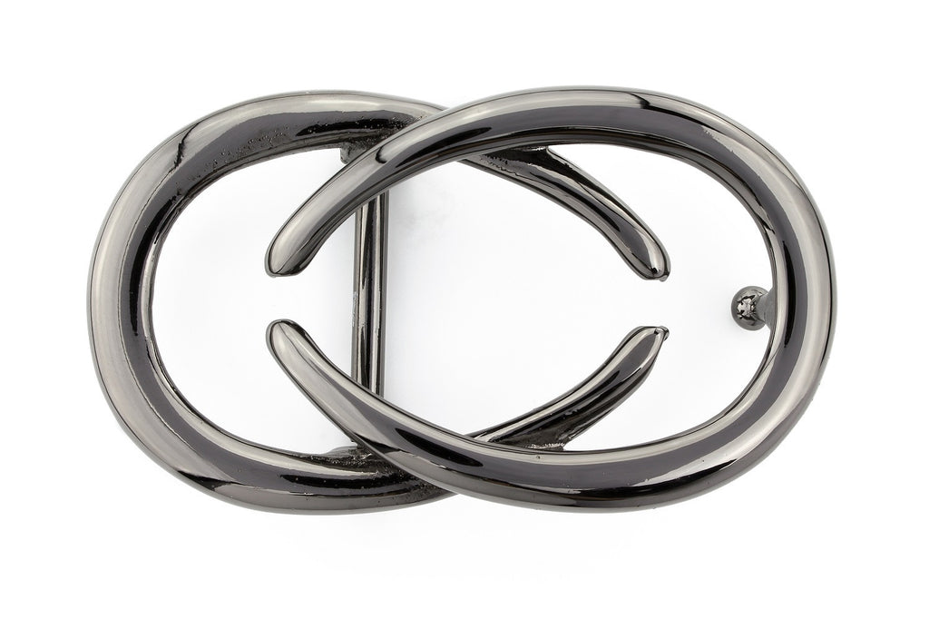 Shiny gunmetal interlocking C buckle 30mm