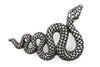 Aged Silver Swirling Snake Buckle 30mm