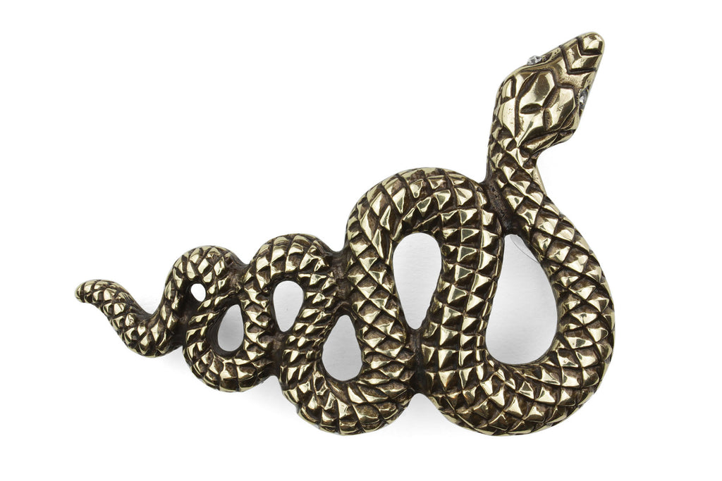 Aged Gold Swirling Snake Buckle 30mm