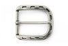 Aged silver punch out prong buckle 35mm