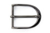 Gunmetal slimline u shape buckle 35mm