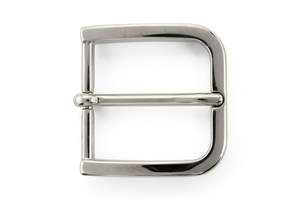 Silver rounded edge rectangle buckle 35mm
