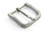 Satin Silver rounded edge rectangle buckle 35mm