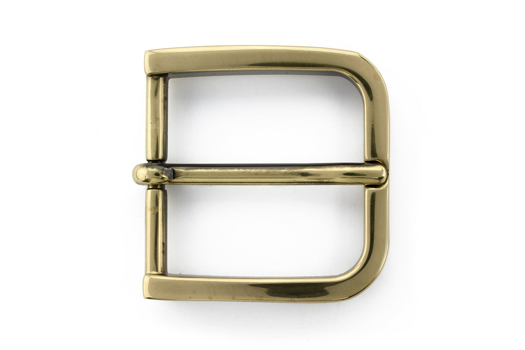 Aged gold rounded edge rectangle buckle 35mm