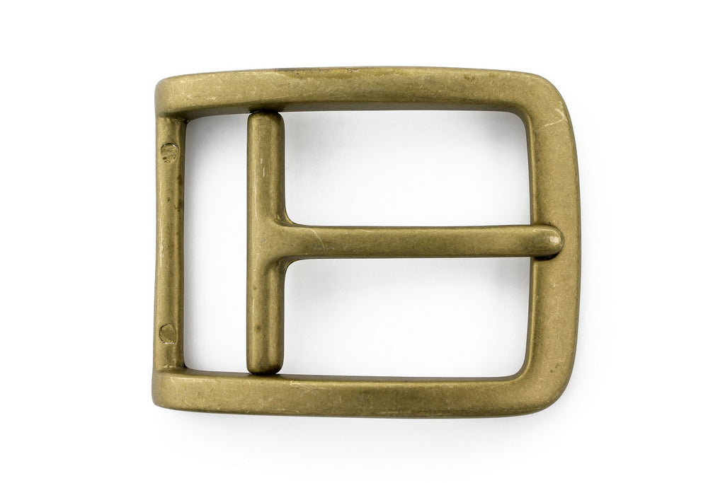 Aged gold stirrup prong buckle 35mm