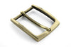 Slim profile gold prong buckle 35mm