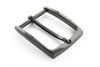 Slim profile gunmetal prong buckle 35mm