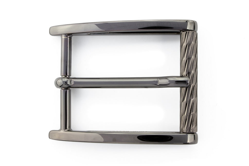 Gunmetal diamond roller buckle 35mm