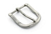 Rounded silver prong buckle 35mm