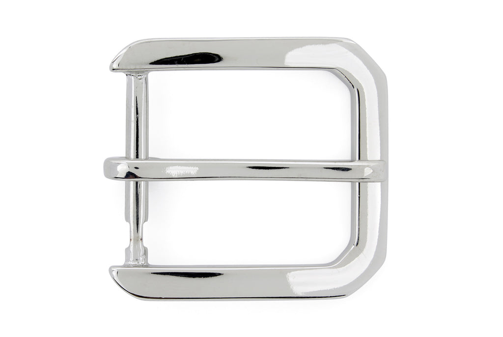 Silver hexagon prong style buckle 35mm