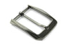 Bevel edge satin gunmetal prong buckle 35mm