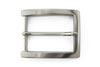 Satin silver classic prong buckle 35mm