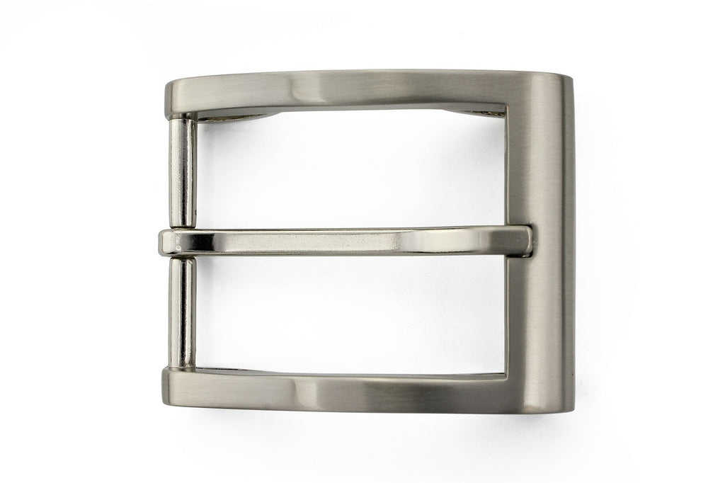 Swirl detail satin finish buckle 35mm