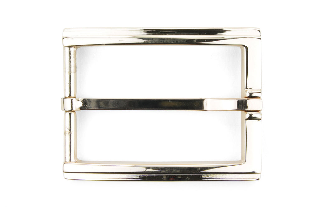 Pale Rose Gold Ridge Detail Prong Buckle 35mm