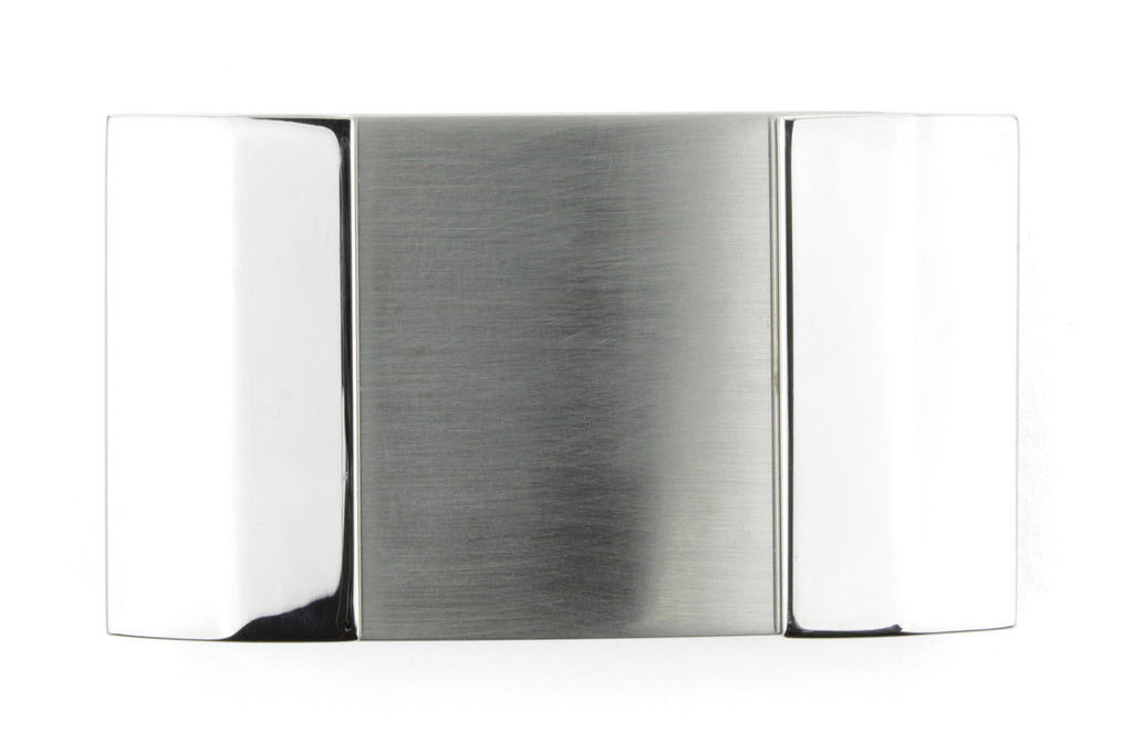 Shiny and Satin Silver Mix Plate Buckle 35mm