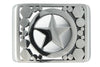 Stainless steel 'Lone Star' buckle
