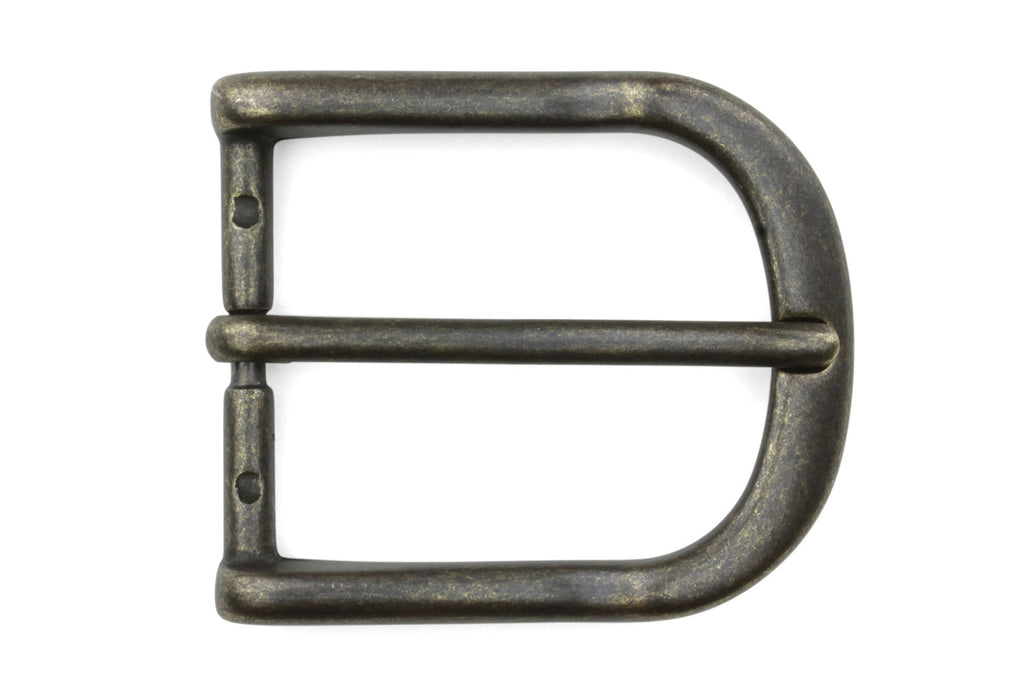 Antique Brass Lip Edge Prong Buckle 35mm