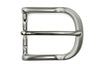Satin Silver Lip Edge Prong Buckle 35mm